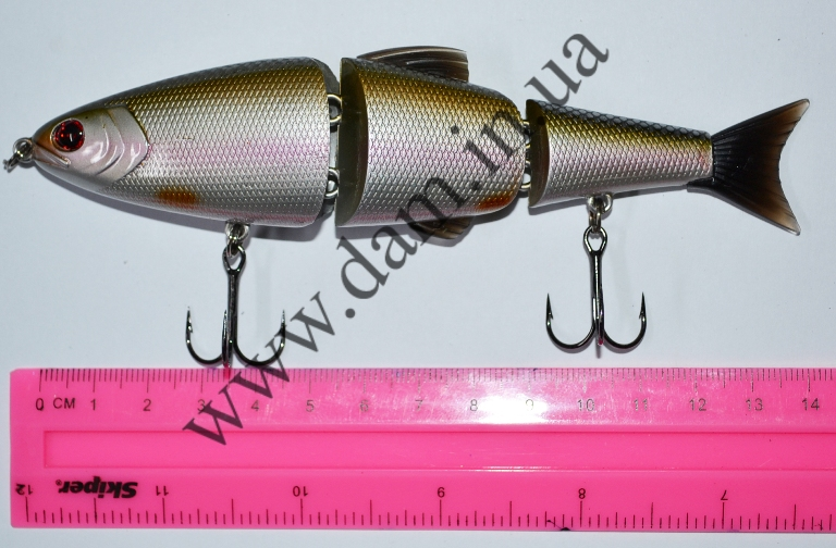 Вобллер EFFZETT POWER SKATER - 3-JOINTED SWIMBAIT 14 CM - SILVER SPA  5909114