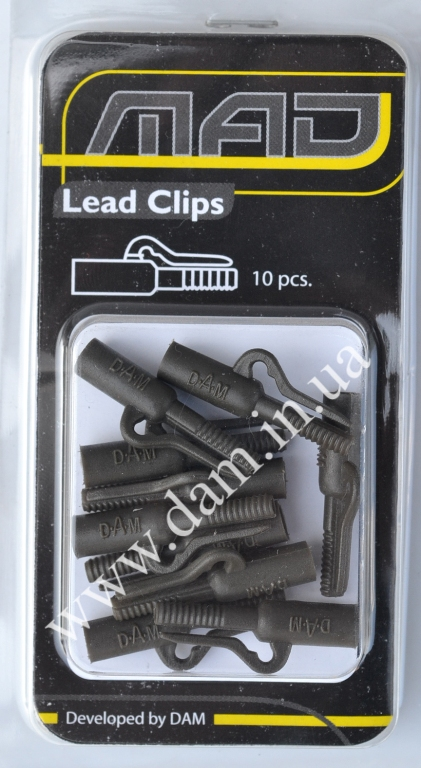 Клипса MAD LEAD CLIPS - GREEN 1уп=10шт  8404101
