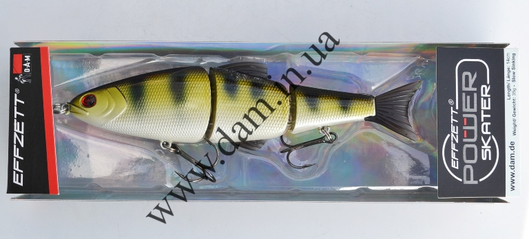 Вобллер EFFZETT POWER SKATER - 3-JOINTED SWIMBAIT 14 CM - ZANDER  5908414