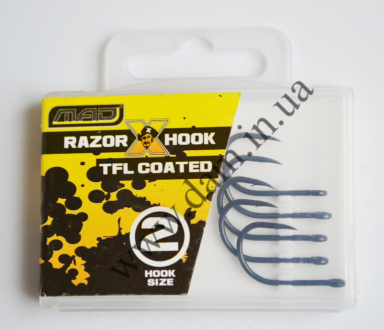 Крючки MAD RAZOR X HOOK TFL COATED - №2 6535102