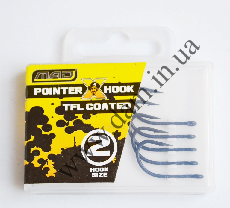 Крючки MAD POINTER X HOOK TFL COATED №2 6538102