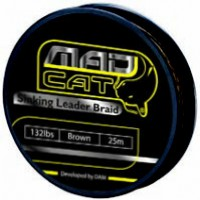 Поводок MAD CAT RIG BRAID - 25M/ 100KG - DEEP BROWN  3790100