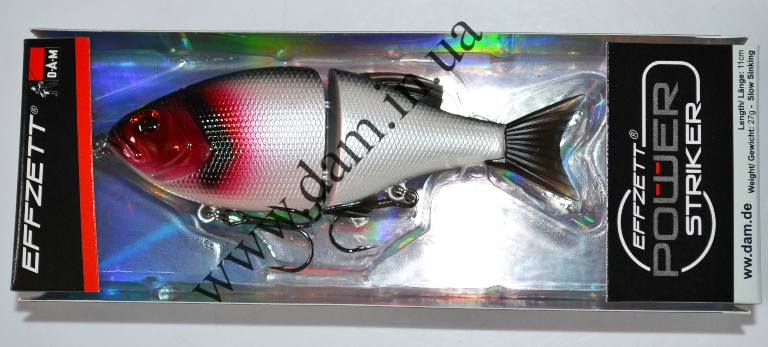 Вобллер EFFZETT POWER STRIKER - 2-JOINTED SWIMBAIT 11 CM - RED HEAD  5906811
